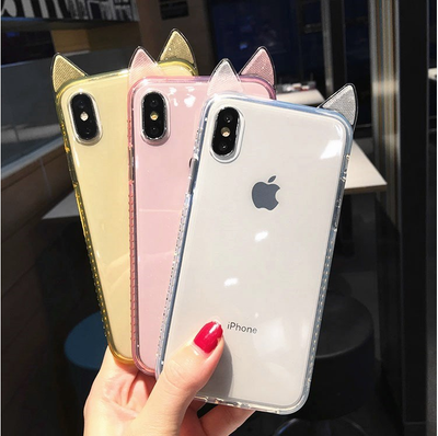 Moskado Klar Glitter Telefon Fall Für iPhone X XS Max XR 7 8 6 6 S Plus Transparent Bling Pulver fällen Weiche TPU Back Cover Coque
