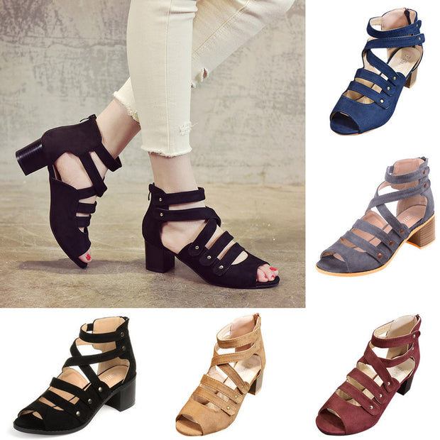 FIZZ 2019 mode Frauen Damen Zipper Sandalen
