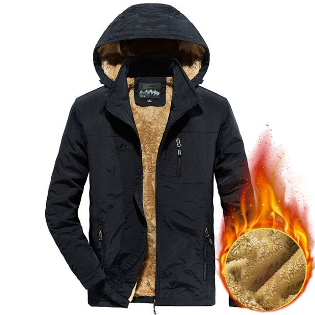 Mojodota Winter Herren plus Baumwolle Thermojacke