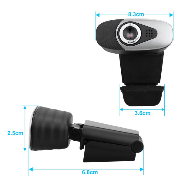 FIZZ  Webcam HD 480 P PC Kamera mit Absorption Mikrofon MIC