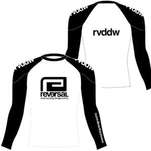 RVDDW MMA Rash Guard Long Sleeve White