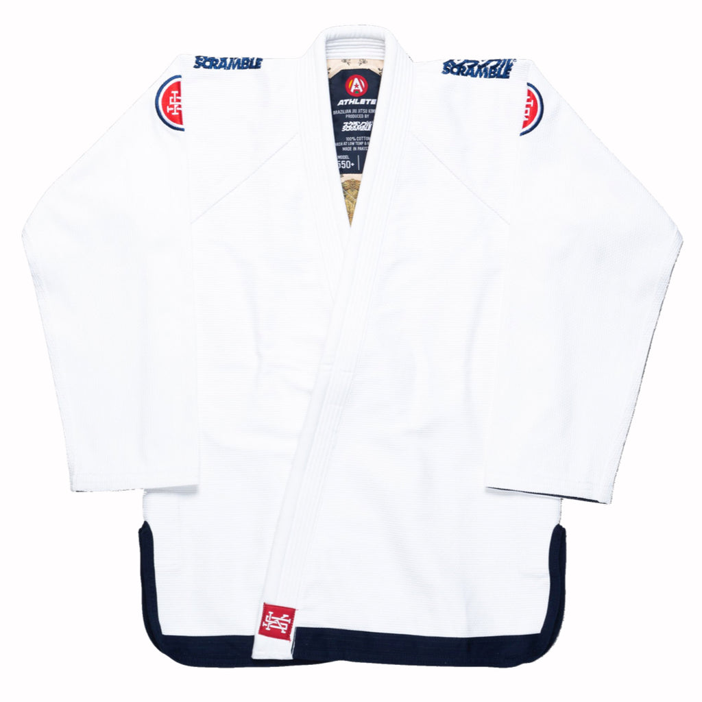 SCRAMBLE ATHLETE 4: 550+ BJJ GI (WHITE)