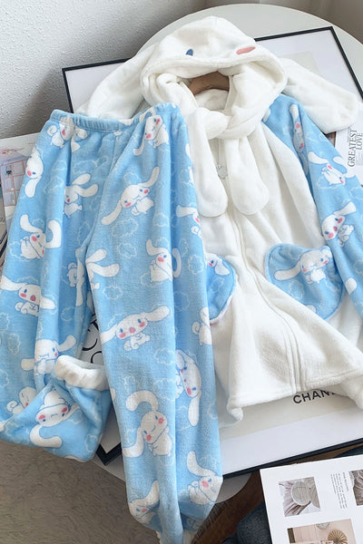 Cartoon Dog Winter Pajamas Suit JK2601