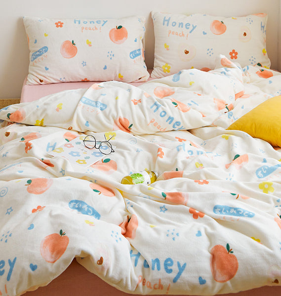 Honey Peach Bedding Set JK2569
