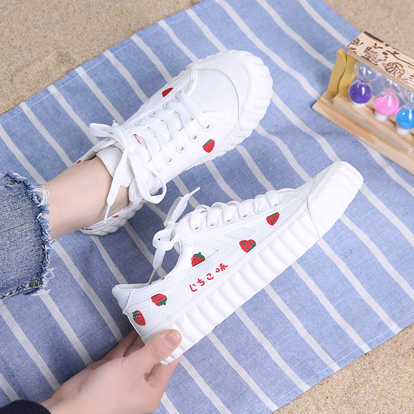 Fashion Strawberry Canvas Shoes  JK2443