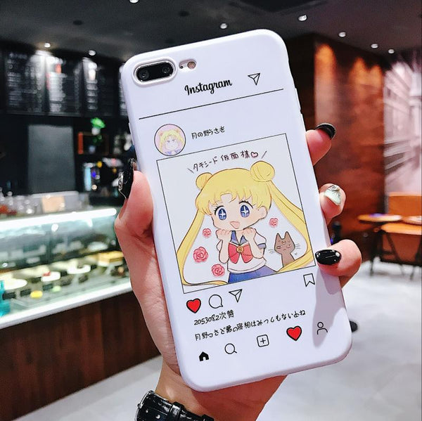 Kawaii Usagi Phone Case for iphone 6/6s/6plus/7/7plus/8/8P/X/XS/XR/XS Max JK1096