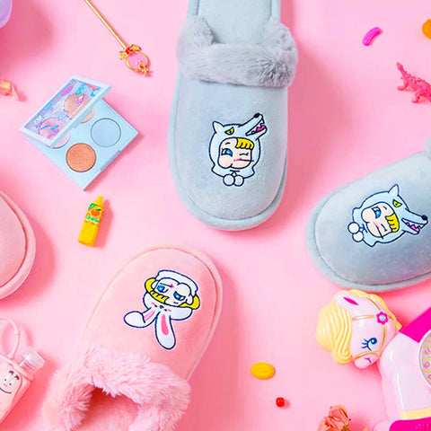 Kawaii Cartoon Girls Slippers JK1013