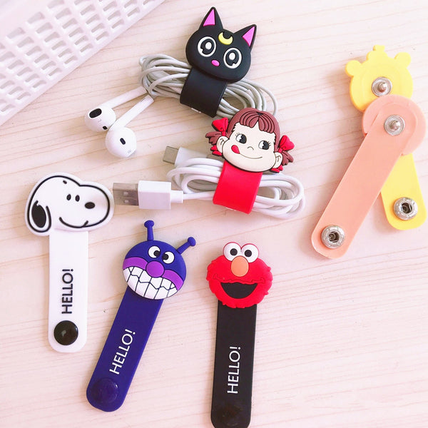 Sailormoon And Cartoon Earphone Wire Collector  JK1043