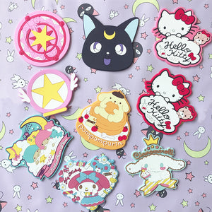 Cartoon Luna and Hellokitty Cup Mat JK1971