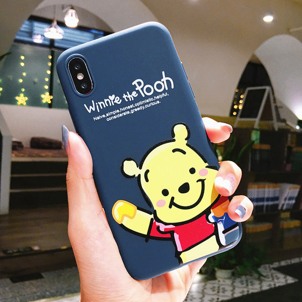 Winnie the Pooh Phone Case for iphone 6/6s/6plus/7/7plus/8/8P/X/XS/XR/XS Max JK1453