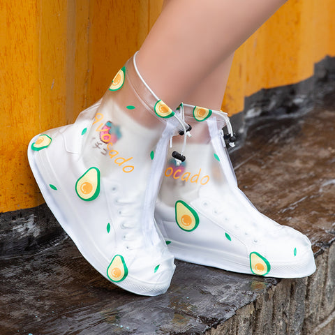 Lovely Fruits and Flowers Waterproof Shoes Covers JK2203