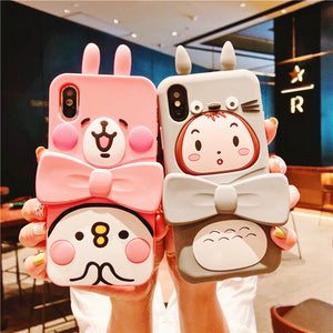 Cartoon Totoro Phone Case for iphone 6/6p/6s/6sp/7/7plus/8/8P/X/Xs/XR/Xs MAX JK1064