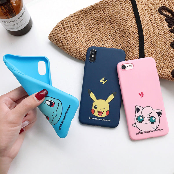 Kawaii Pocket Monster Phone Case for iphone 6/6s/6plus/7/7plus/8/8P/X/XS/XR/XS Max JK1751