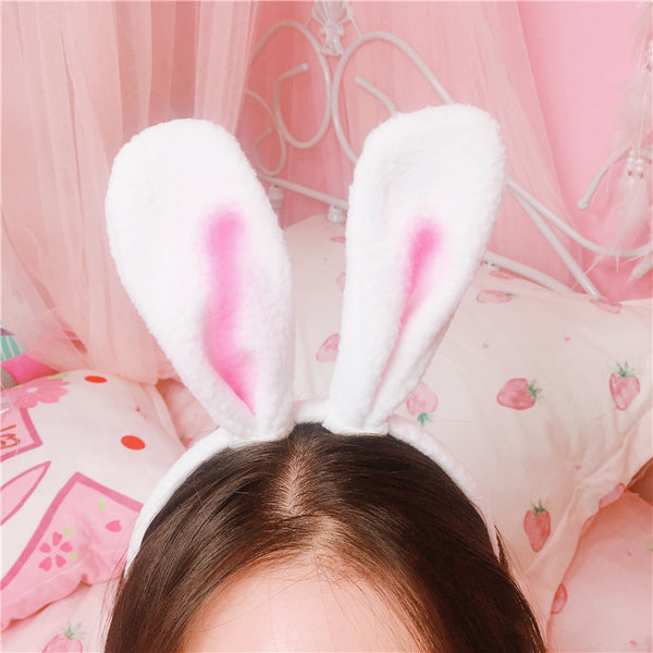 Pink Rabbit Ears Hairband JK1364