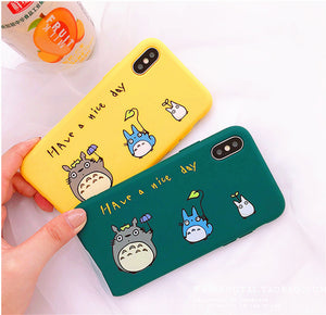 Totoro Phone Case for iphone 6/6s/6plus/7/7plus/8/8P/X/XS/XR/XS Max JK1199