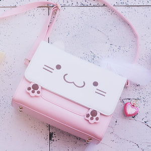 Pink Cat Shoulder Bag JK1276