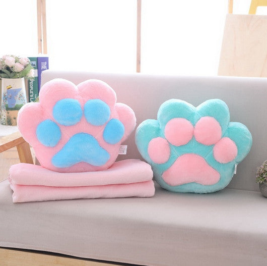 Lovely Cat Paws Pillow And  Blanket JK1609