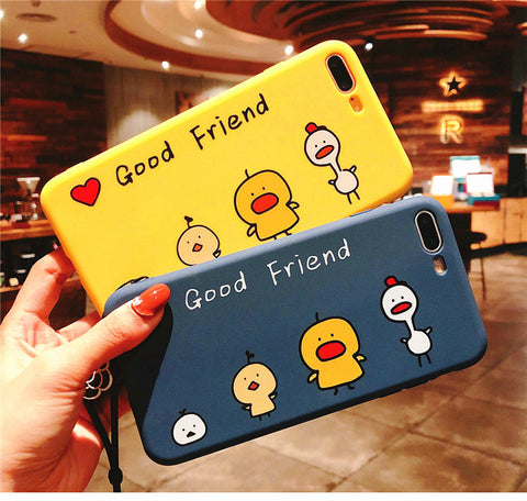 Cute Duck Phone Case for iphone 6/6s/6plus/7/7plus/8/8P/X/XS/XR/XS Max JK1191