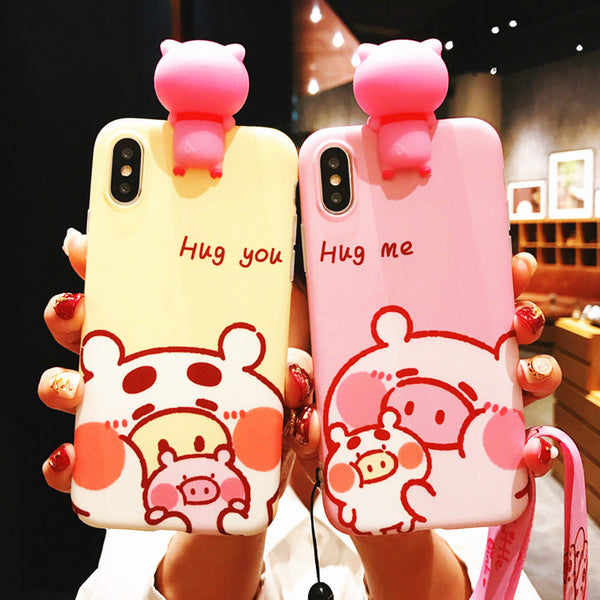 Love Pigs Phone Case for iphone 6/6s/6plus/7/7plus/8/8P/X/XS/XR/XS Max JK1192
