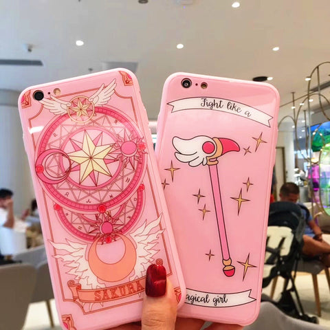 Sakura Cardcaptor Phone Case for iphone 6/6s/6plus/7/7plus/8/8P/X JK1078