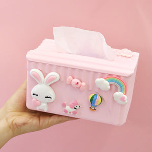 Hello kitty and Rabbit Tissue Box JK1591