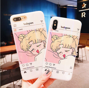 Sleepy Usagi Phone Case for iphone 6/6s/6plus/7/7plus/8/8P/X/XS/XR/XS Max JK1052