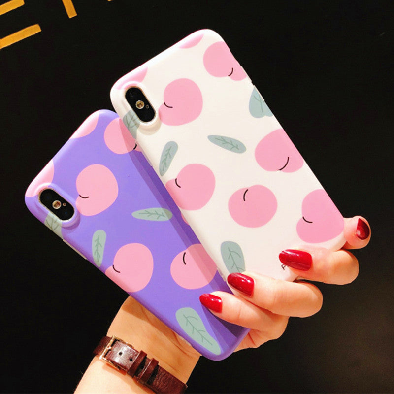 Cute Peach Phone Case for iphone 6/6s/6plus/7/7plus/8/8P/X/XS/XR/XS Max JK1136