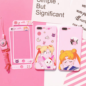 Kawaii Usagi Phone Case for iphone 6/6s/6plus/7/7plus/8/8P/X/XS/XR/XS Max JK1206