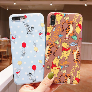 Winnie the Pooh Phone Case for iphone 6/6s/6plus/7/7plus/8/8P/X/XS/XR/XS Max JK1940