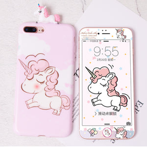 Kawaii Unicorn Phone Case for iphone 6/6s/6plus/7/7plus/8/8P/X/XS/XR/XsMax JK1462