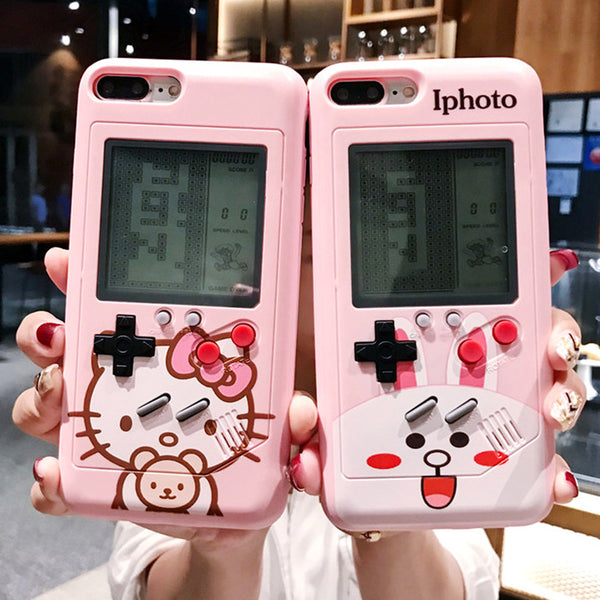 Hello Kitty Game Machine Phone Case for iphone 6/6s/6plus/7/7plus/8/8P/X/XS/XR/XS Max JK1174