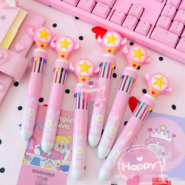 Kawaii Sakura Ten Colors Ballpoint Pen JK1017