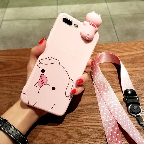 Pink Pig Phone Case for iphone 6/6s/6plus/7/7plus/8/8P/X/XS/XR/XS Max JK1384