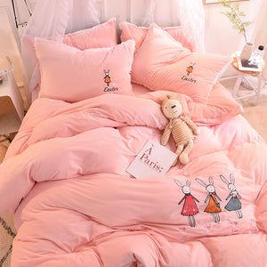 Lovely Rabbits Four Piece-suit Bedding JK2054