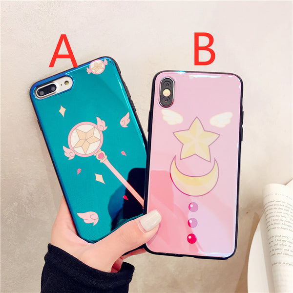 Sailormoon and Sakura Phone Case for iphone 6/6s/6plus/7/7plus/8/8P/X/XS/XR/XS Max JK1336