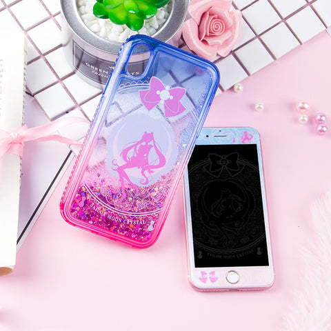Cute Quicksand Usagi Phone Case for iphone 6/6s/6plus/7/7plus/8/8P/X/XS/XR/XS Max JK1278