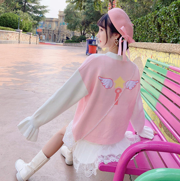 Fashion Sakura Wings Sweater JK1917