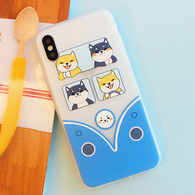Kawaii Dogs Phone Case for iphone 6/6s/6plus/7/7plus/8/8P/X/XS/XR/XS Max JK1821