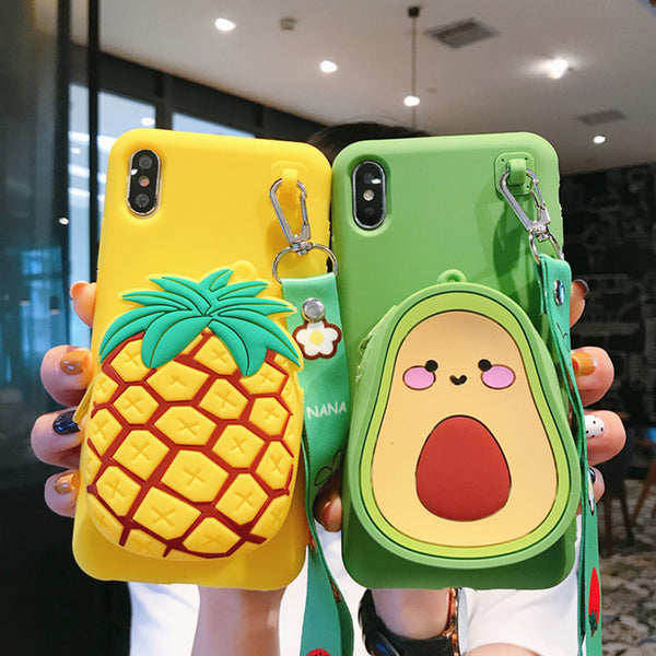 Kawaii Fruits Bag Phone Case for iphone 6/6s/6plus/7/7plus/8/8P/X/XS/XR/XS Max JK1641