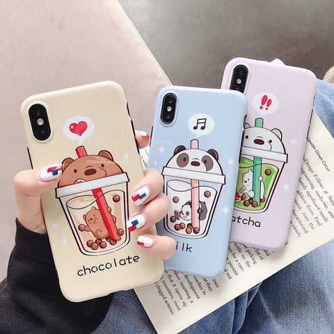 Lovely Bears Phone Case for iphone 6/6s/6plus/7/7plus/8/8P/X/XS/XR/XS Max JK1441