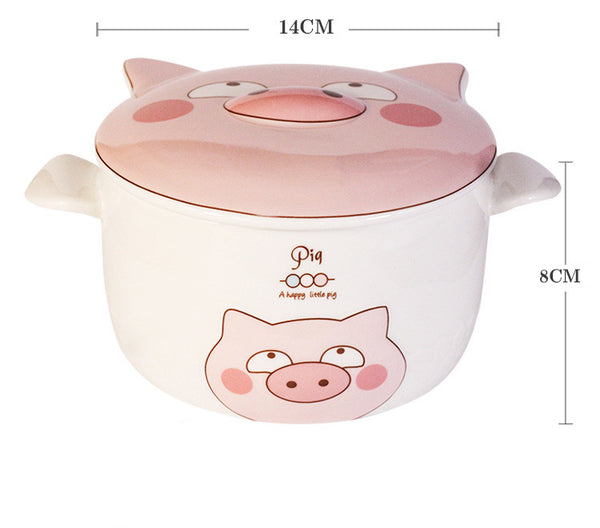 Cute Pig Printed Bowl JK2514
