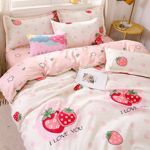 Sweet Strawberry Bedding Set JK2359