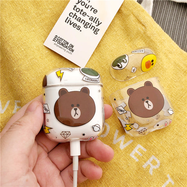 Cony and Brown Airpods Protector  JK1298