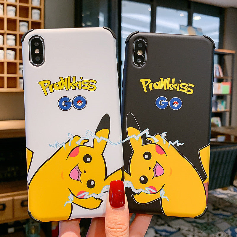 Lovely Pikachu Phone Case for iphone 6/6s/6plus/7/7plus/8/8P/X/XS/XR/XS Max JK1672