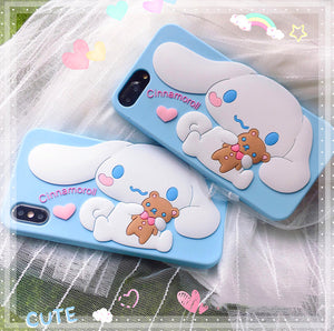 3D Cinnamoroll Phone Case for iphone 6/6s/6plus/7/7plus/8/8P/X/XS/XR/XS Max JK1450