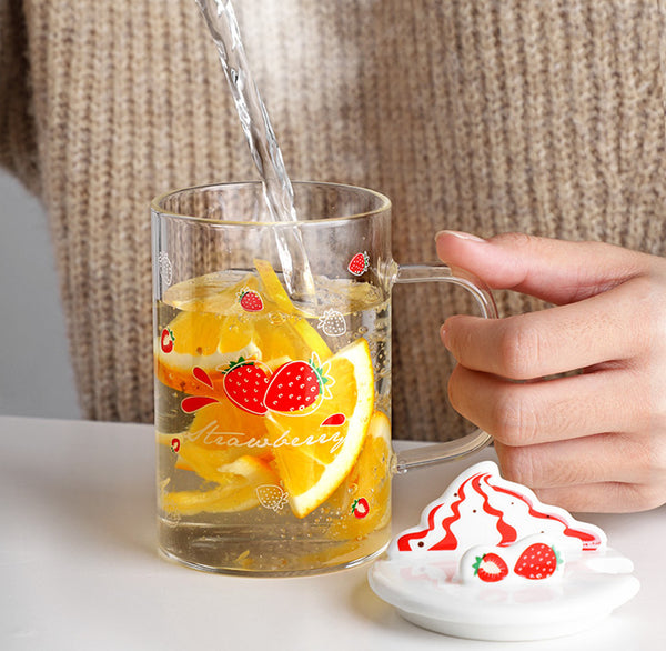 Sweet Fruits Glass Water Cup JK2556