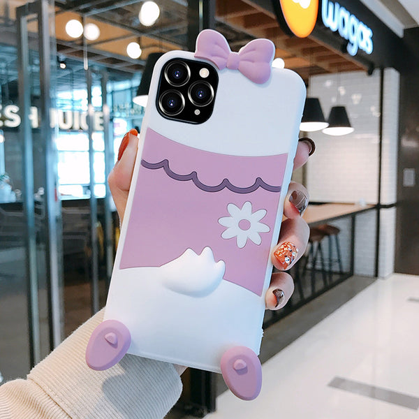 Kawaii Duck Phone Case for iphone7/7plus/8/8P/X/XS/XR/XS Max/11/11 pro/11 pro max JK2061