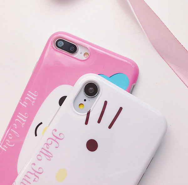 Cinnamoroll and Hello kitty Phone Case for iphone 6/6s/6plus/7/7plus/8/8P/X/XS/XR/XS Max JK1496