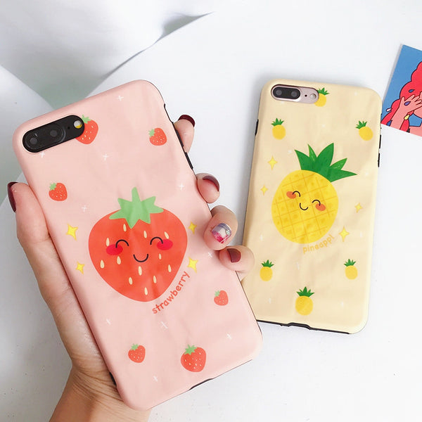 Strawberry and Pineapple Phone Case for iphone 6/6s/6plus/7/7plus/8/8P/X/XS/XR/XS Max JK1551