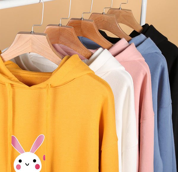 Kawaii Rabbit And Bear Hoodie JK1707